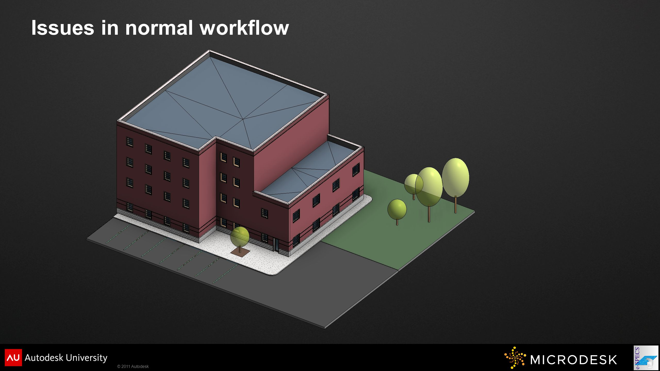 © 2011 Autodesk Issues in normal workflow