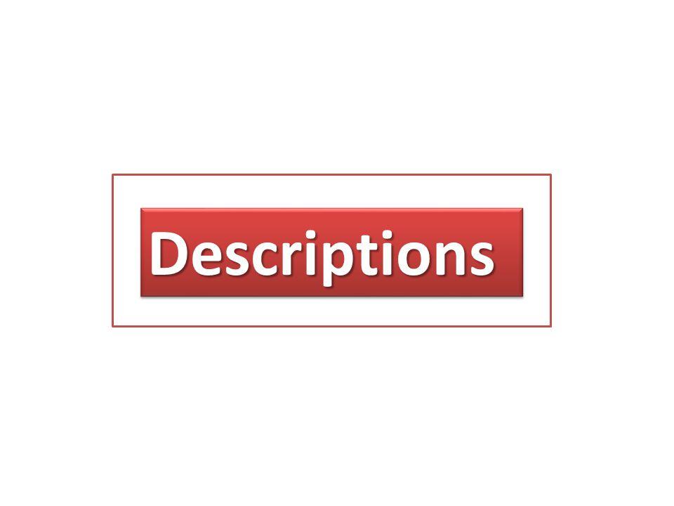DescriptionsDescriptions