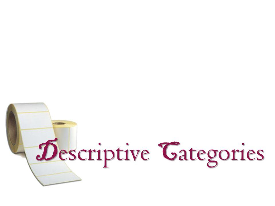 D escriptive C ategories