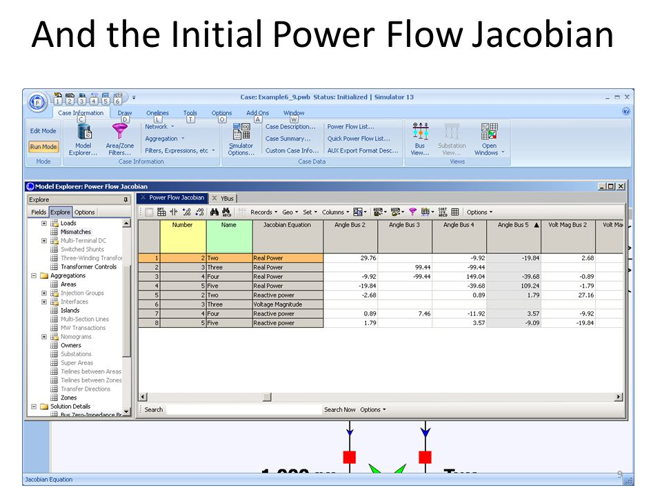 And the Initial Power Flow Jacobian 9