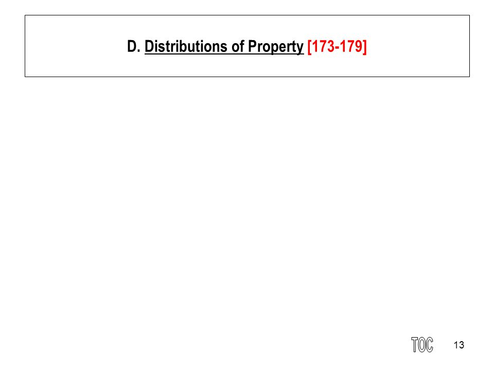 13 D. Distributions of Property [173-179]