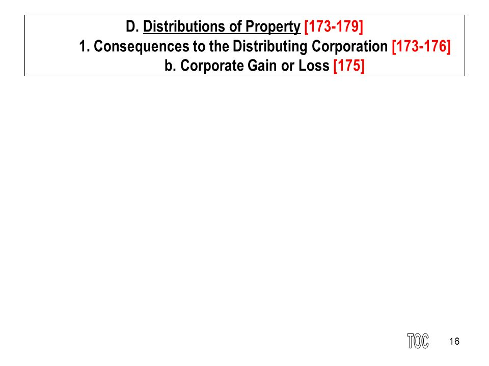 16 D.Distributions of Property [173-179] 1.