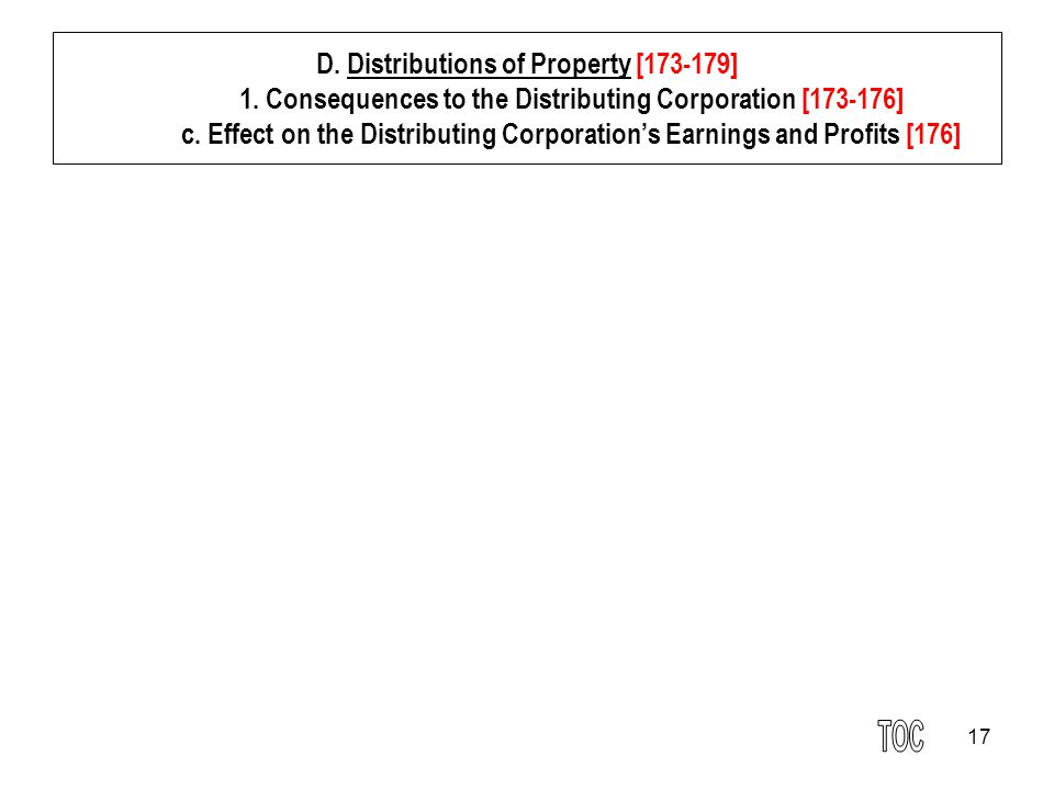 17 D.Distributions of Property [173-179] 1.