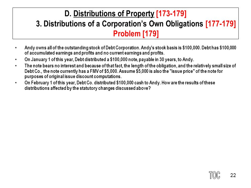 22 D.Distributions of Property [173-179] 3.