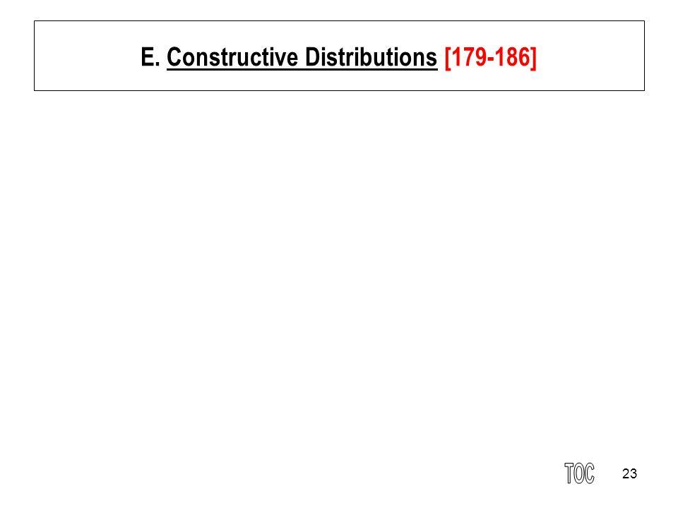 23 E. Constructive Distributions [179-186]
