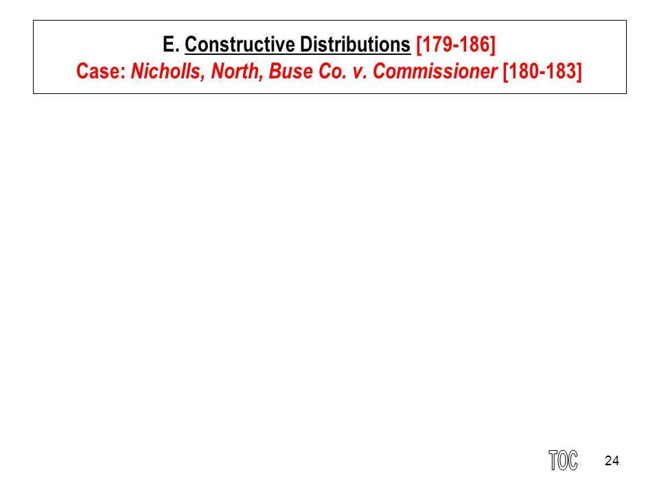 24 E.Constructive Distributions [179-186] Case: Nicholls, North, Buse Co.