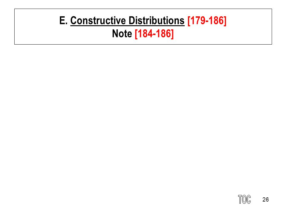 26 E. Constructive Distributions [179-186] Note [184-186]