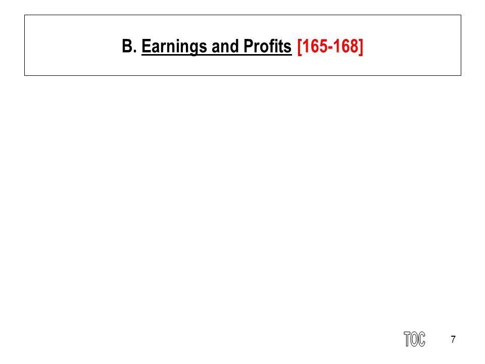 7 B. Earnings and Profits [165-168]