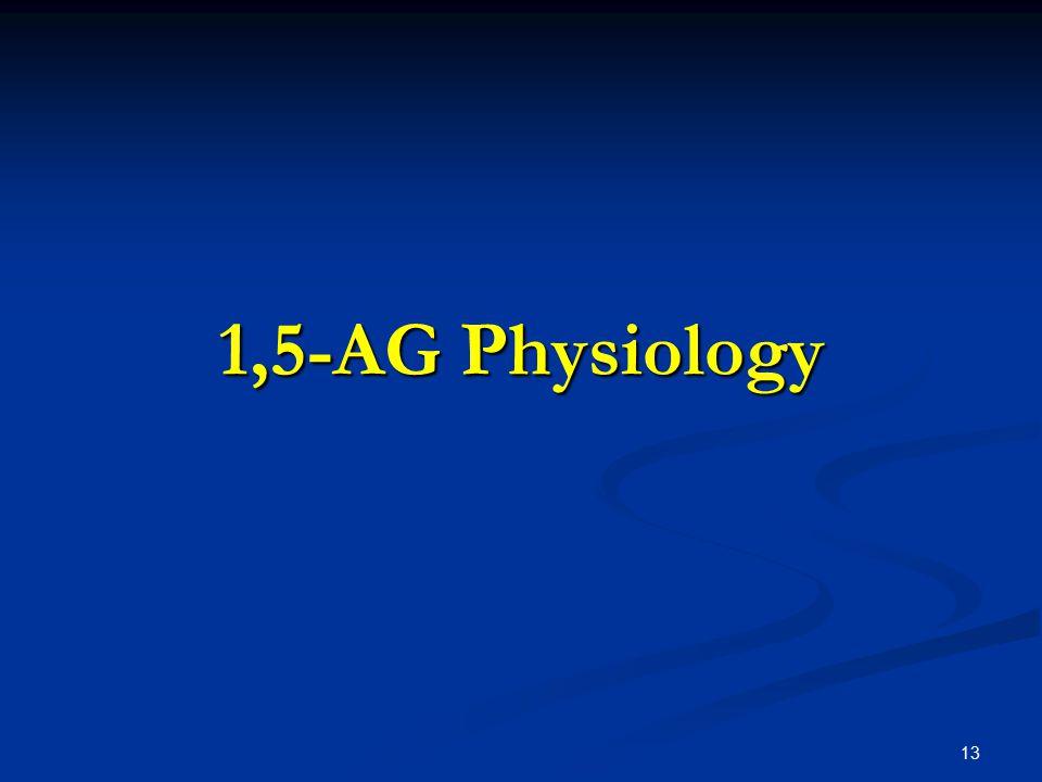 13 1,5-AG Physiology