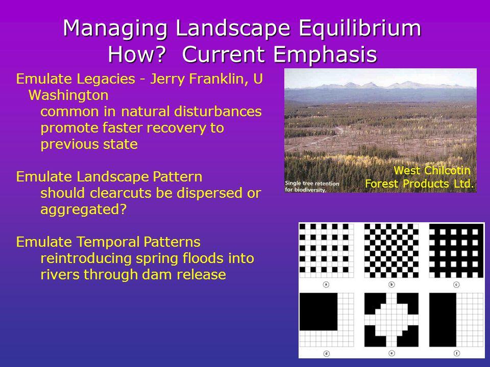 Managing Landscape Equilibrium How.