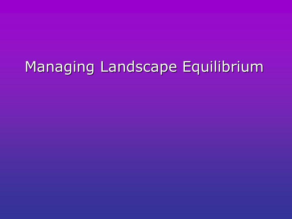 Managing Landscape Equilibrium