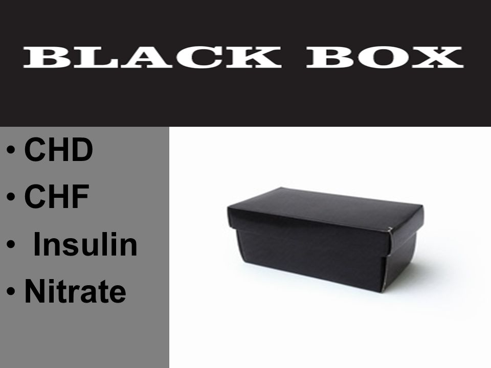 CHD CHF Insulin Nitrate