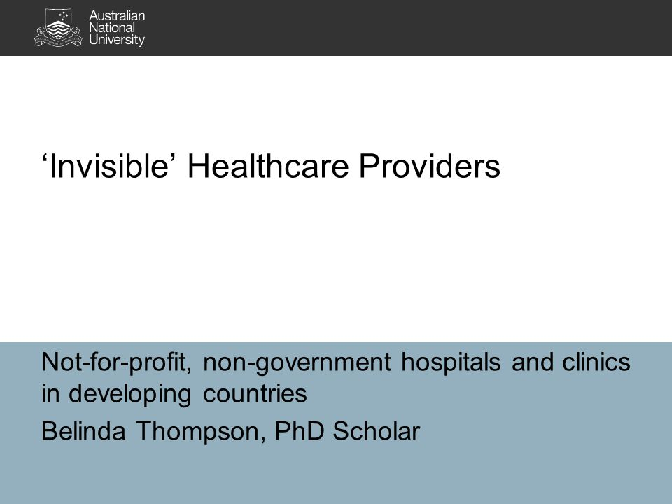 Key references Ahmed, S, Bloom, A & Sweeney, R 2011, 'Analysing relationship between the state and non-state health care providers, with special reference to Asia and the Pacific', Health Policy and Health Finance Knowledge Hub Working Paper, no.
