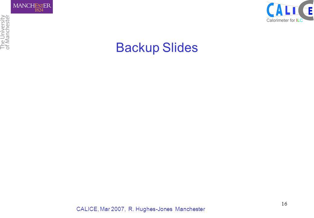 CALICE, Mar 2007, R. Hughes-Jones Manchester 16 Backup Slides