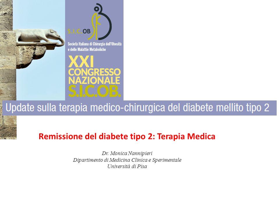Remissione del diabete tipo 2: Terapia Medica Dr.