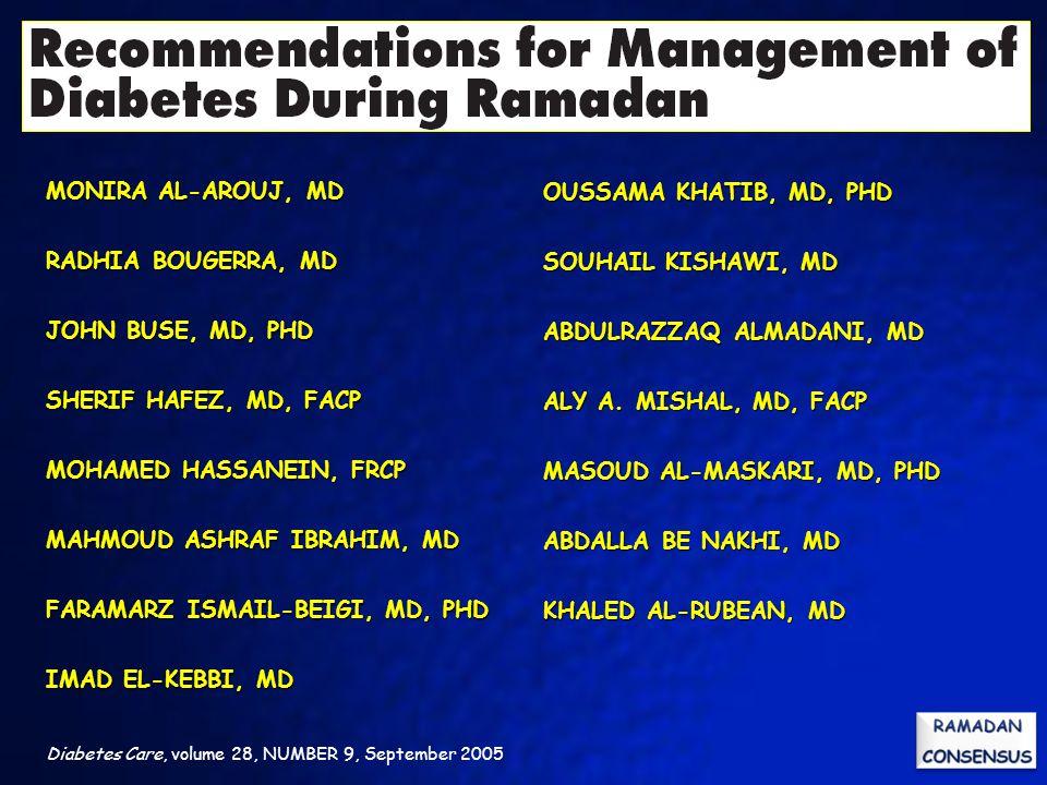 MONIRA AL-AROUJ, MD RADHIA BOUGERRA, MD JOHN BUSE, MD, PHD SHERIF HAFEZ, MD, FACP MOHAMED HASSANEIN, FRCP MAHMOUD ASHRAF IBRAHIM, MD FARAMARZ ISMAIL-B