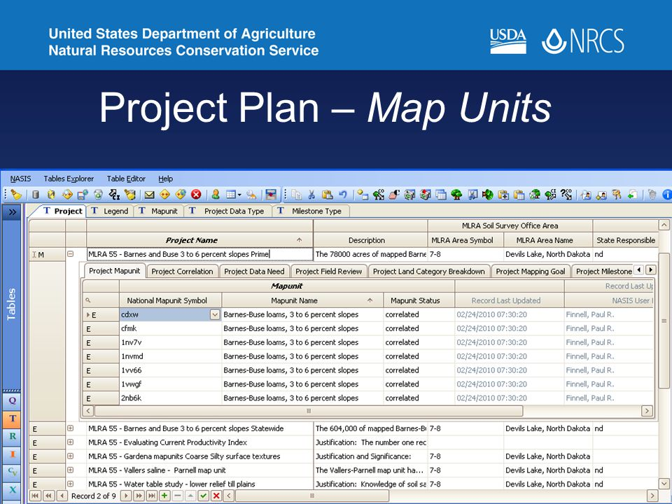 Project Plan – Map Units