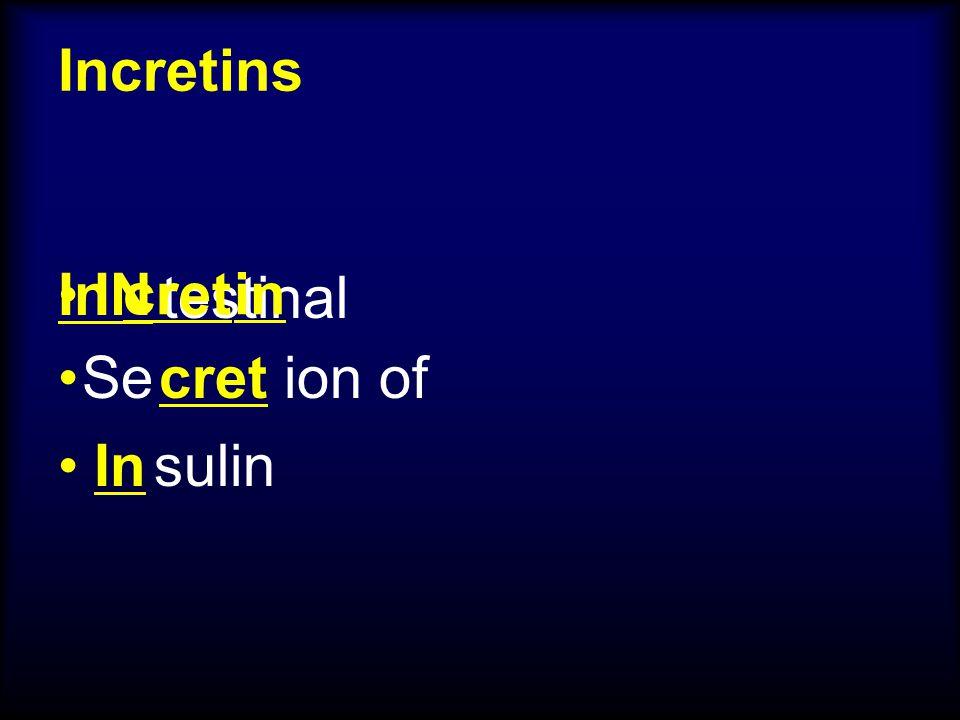 Incretins IN testinal Se ion of sulin cret In cretin