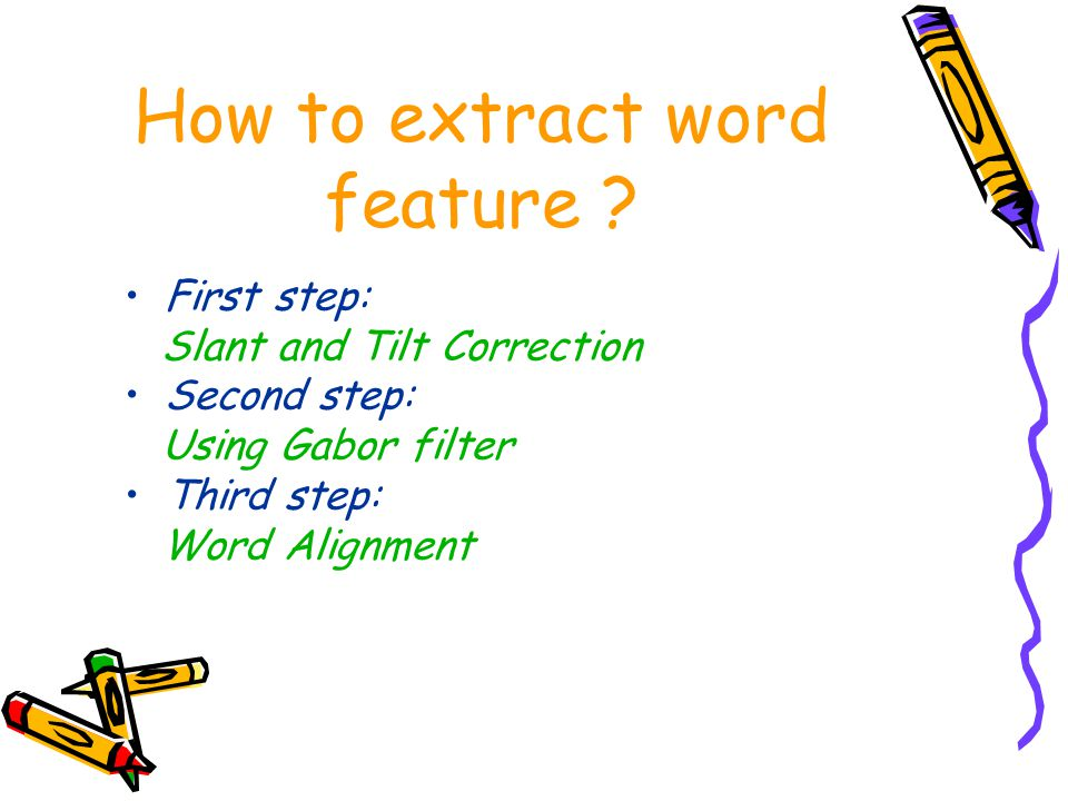 How to extract word feature .