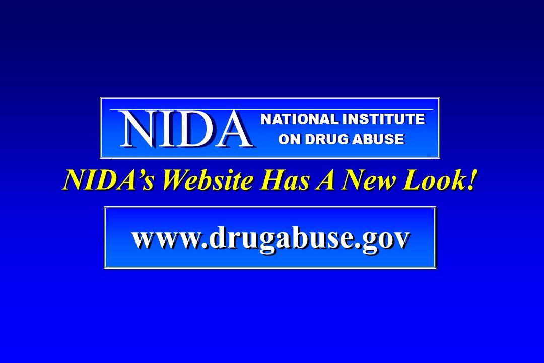 www.drugabuse.gov www.drugabuse.gov NIDA NATIONAL INSTITUTE ON DRUG ABUSE NIDA's Website Has A New Look!