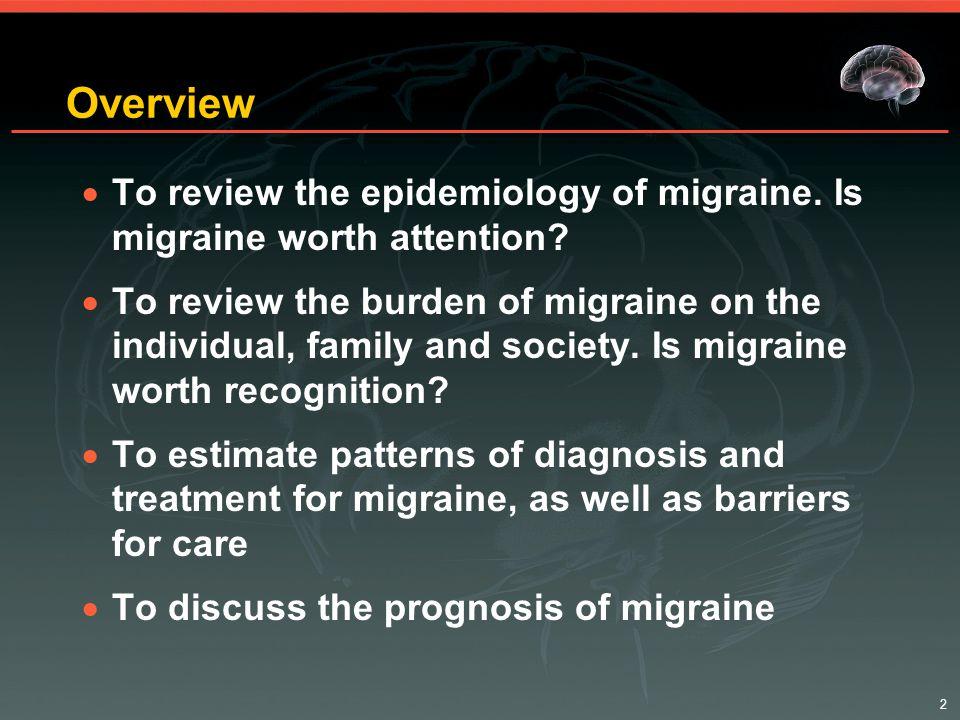 23 Migraine is Comorbid With:  Neurologic disorders –Epilepsy –Ischemic stroke –Tourette's  Psychiatric disorders –Depression –Bipolar disease –Anxiety/panic disorder  Other disorders –Raynaud's –Snoring/sleep apnea –Asthma/allergy –Noncephalic pain –GI disorders –Arthritis –Low back pain