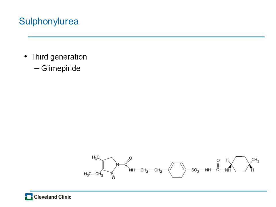 Sulphonylurea Third generation – Glimepiride