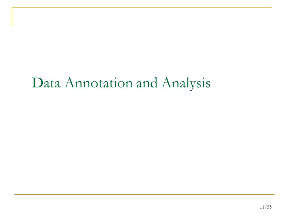 11/55 Data Annotation and Analysis
