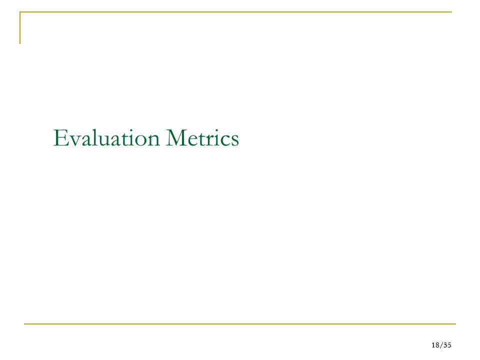 18/55 18/35 Evaluation Metrics