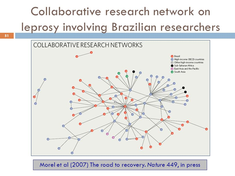 Collaborative research network on leprosy involving Brazilian researchers 51 Morel et al (2007) The road to recovery. Nature 449, in press
