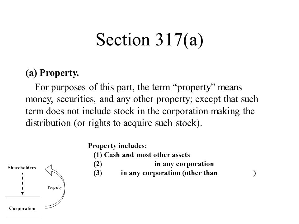 Section 317(a) (a) Property.