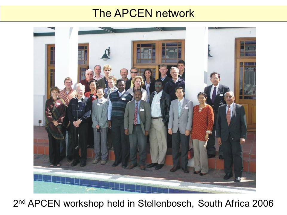 The APCEN network 2 nd APCEN workshop held in Stellenbosch, South Africa 2006