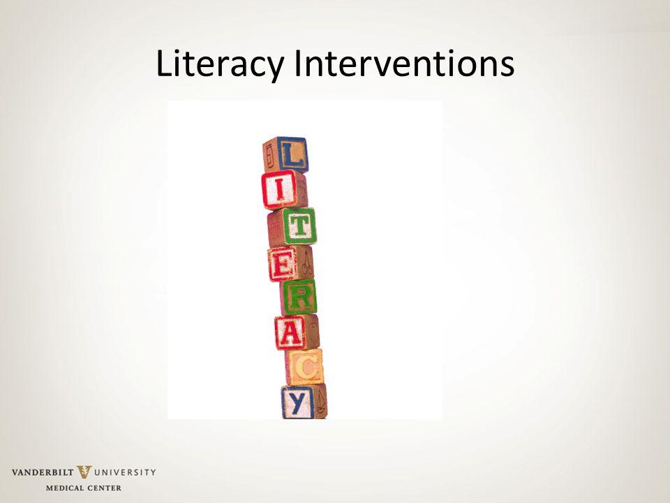 Literacy Interventions