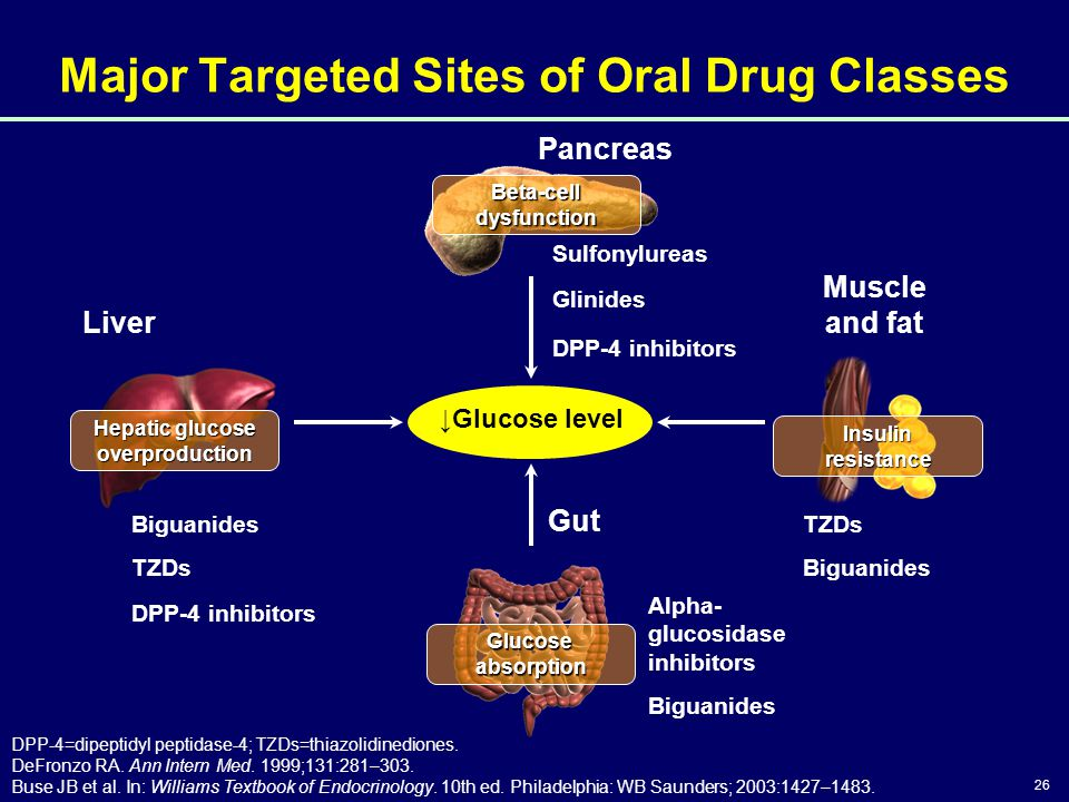 26 Glucose absorption Hepatic glucose overproduction Beta-cell dysfunction Insulin resistance Major Targeted Sites of Oral Drug Classes DPP-4=dipeptid