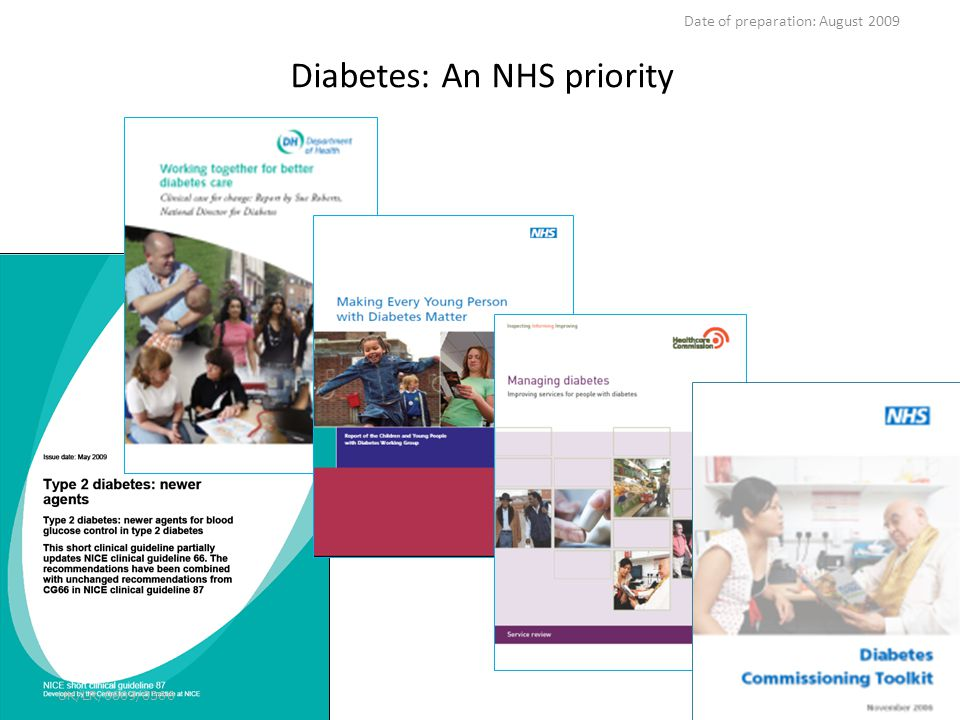 Diabetes: An NHS priority UK/LR/0809/0366 Date of preparation: August 2009