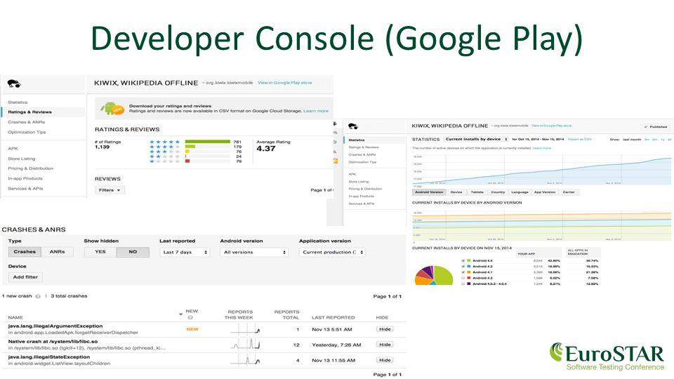 www.eurostarconferences.com Developer Console (Google Play)