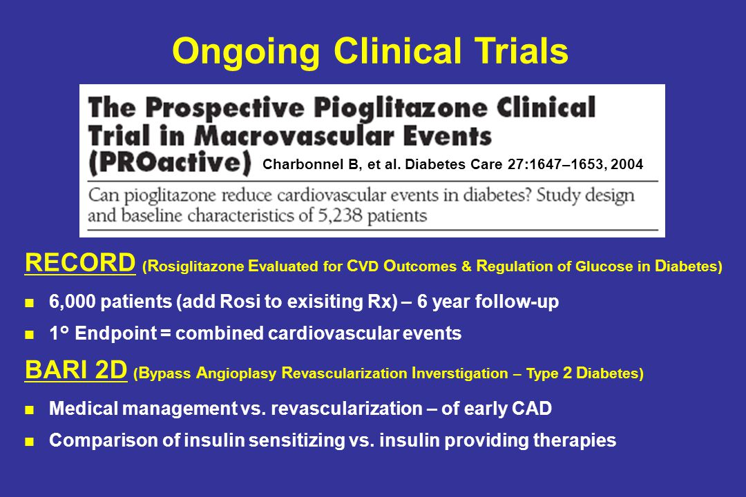 Charbonnel B, et al. Diabetes Care 27:1647–1653, 2004 RECORD ( R osiglitazone E valuated for C VD O utcomes & R egulation of Glucose in D iabetes) 6,0