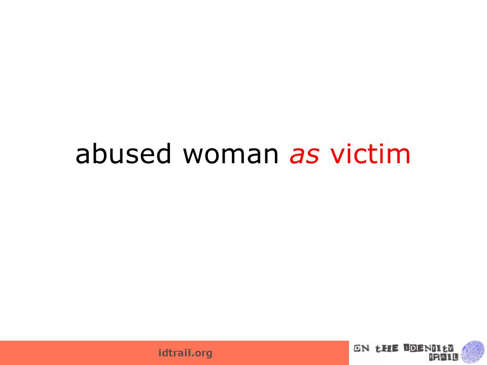 abused woman as victim