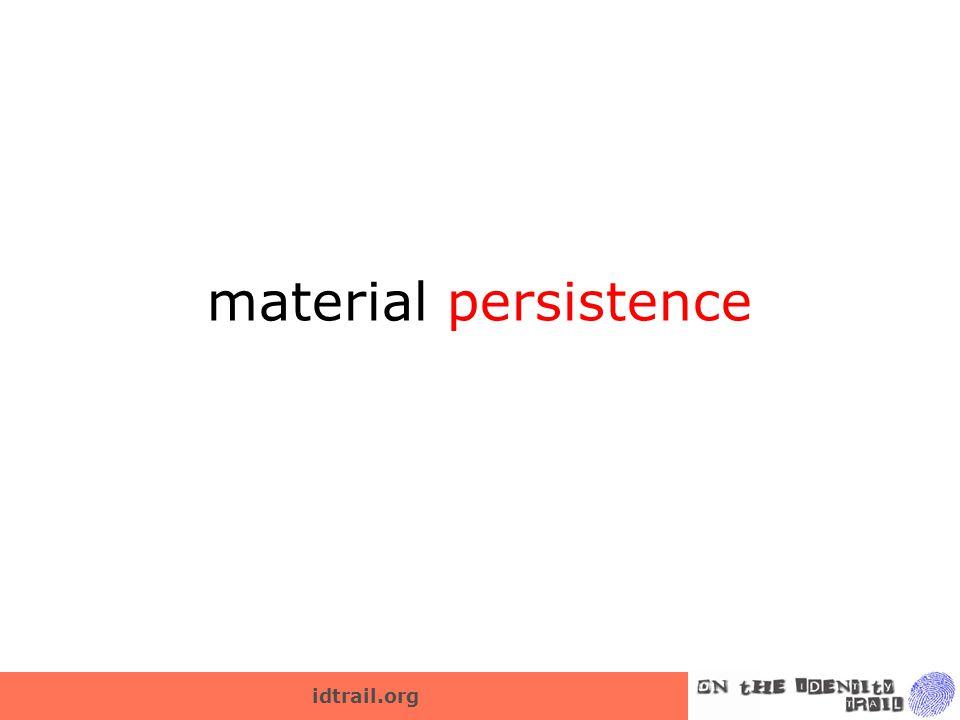 material persistence