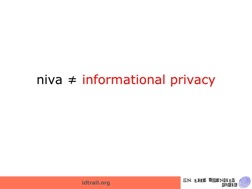 idtrail.org niva ≠ informational privacy