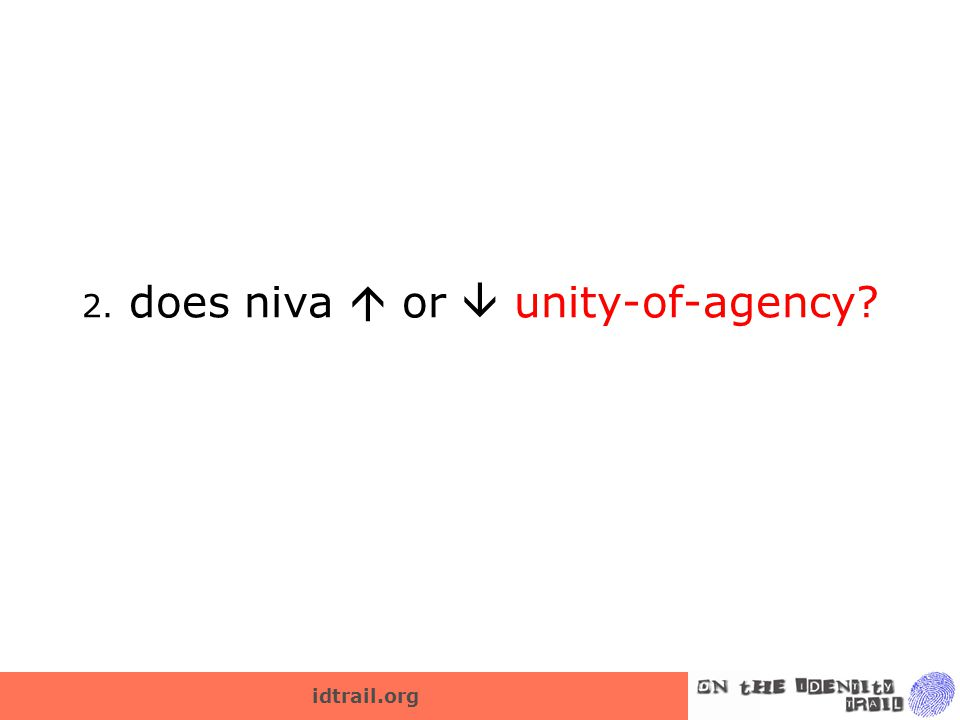 idtrail.org 2. does niva  or  unity-of-agency