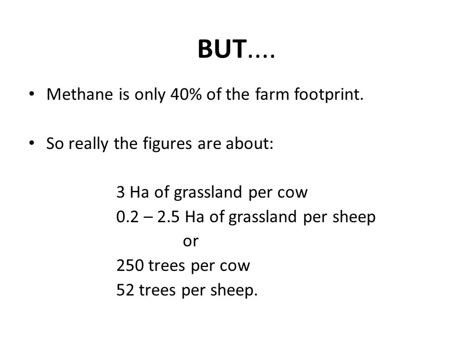 BUT.... Methane is only 40% of the farm footprint.