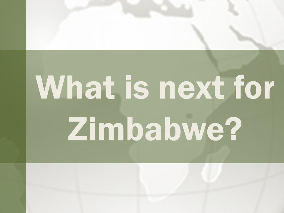 What is next for Zimbabwe