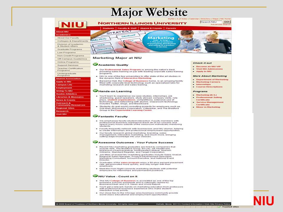 Major Website NIU