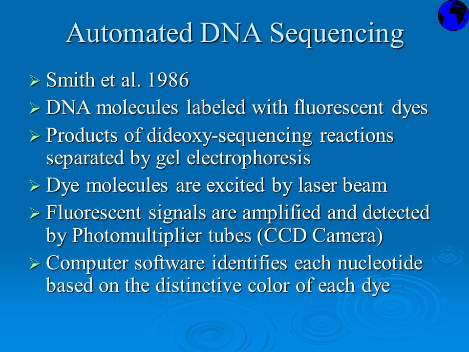Automated DNA Sequencing  Smith et al.