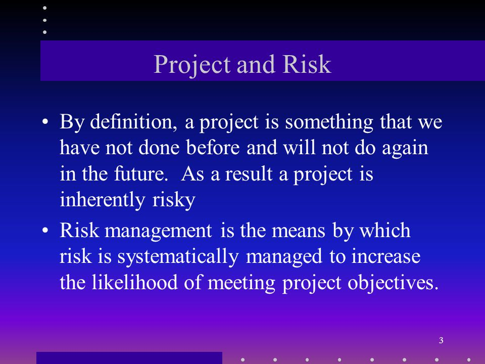 Copyright Course Technology 2001 2 Project Management Framework