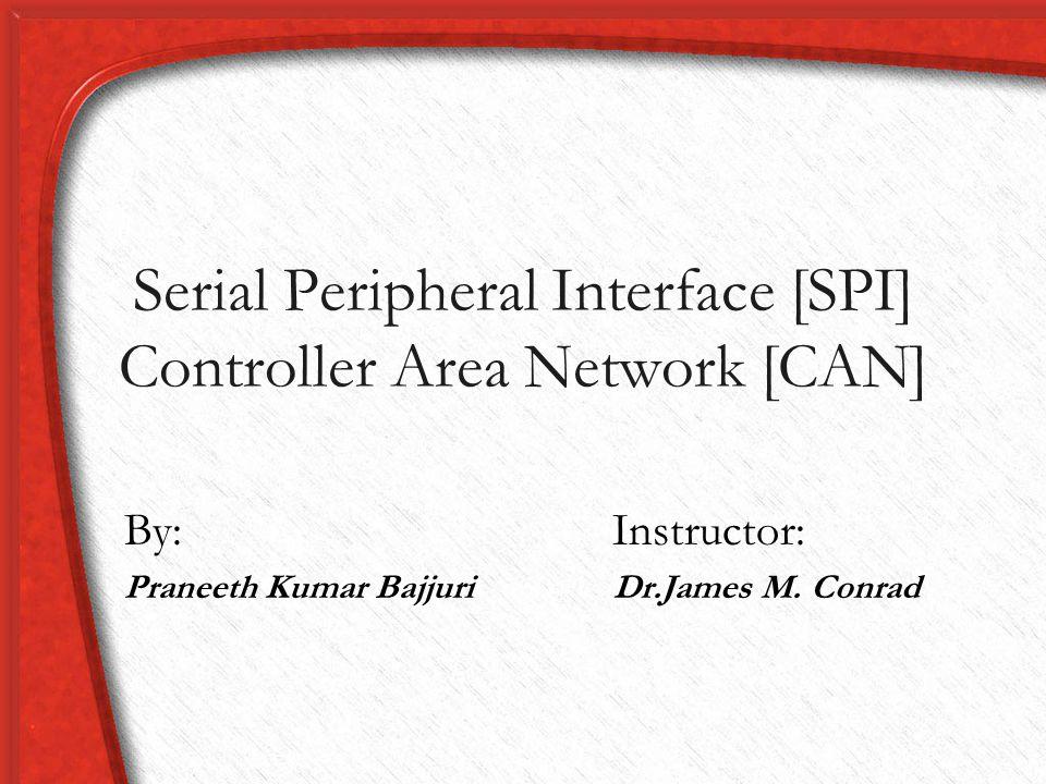 SPI Initialization Void config_spi() { PINSEL0 = 0x00005500; IODIR=0x0000000B; SPCR |= 0x20; SPCCR |= 0x08; SPDR = 0x44; SPINT = 0x00; } Void recv_spi(char *ptr, long count) { int i ; for(i=0;i<255;i++) { SPDR = 0x00; while(!(SPSR & 0x80)); ptr[i] = SPDR; count++; }