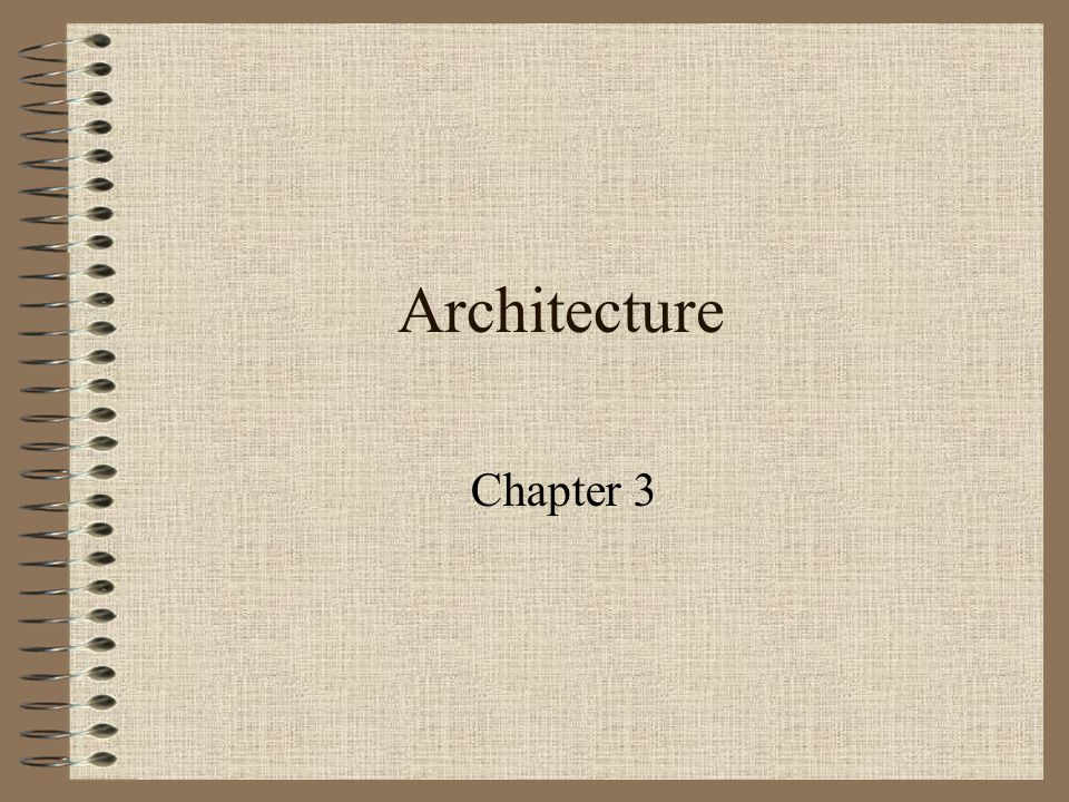Architecture Chapter 3