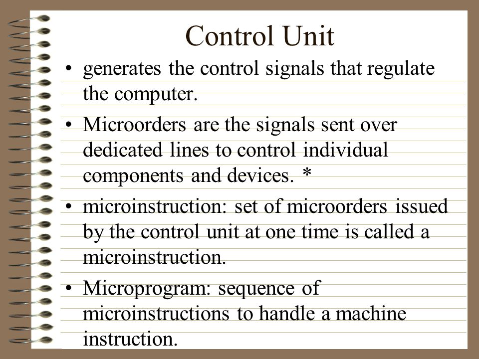 –In the interpretation phase, the control unit reads instructions from the memory using PC as a pointer.