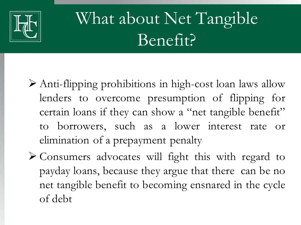 What about Net Tangible Benefit.