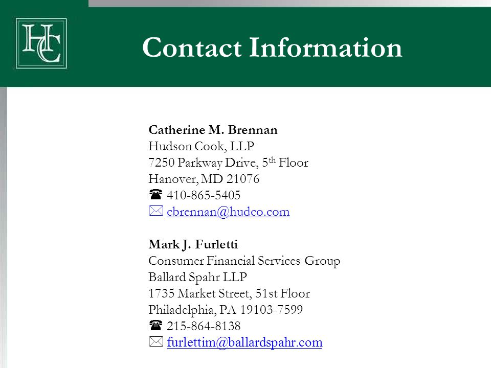 Contact Information Catherine M.